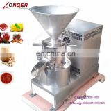 Industrial Peanut Butter Making Machine Chilli Grinding Colloid Mill Tomato Paste Machine For Sale