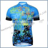 women custom design sublimation print short sleeve bike jersey
