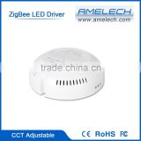 Round 280mA 18W 20W 24W ZigBee WiFi Constant Current CCT Dimmable LED Driver