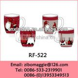 Zibo Made Belly Shape Christmas Print Ceramic Milk Drinking Mug Set for Children with Cheap Price
