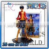MINI QUTE 26 cm japanese anime Pirates one piece action figure strawhat Monkey D Luffy brinquedos boys in box NO.MQ 074