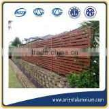 aluminium slat fence factory /wooden color slat fence/20 years factory