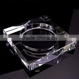 white clear luxury square crystal glass ashtray