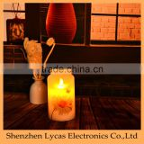 Battery-Operated LED White flower decal Electric Candle