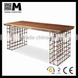 new design home furniture industrial style wood top big table