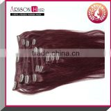 2015 hot fashion 100% virgin remy highlight great lengthaluminum clip in ceiling hair extension bangs