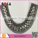 BOKA WHITE CRYSTAL GLASS BEADS FOR NECKTRIM FACTORY DIRECT SELL NECK COLLAR