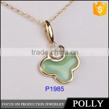 hot sale modern pendant light druzy pendant zircon silver pedant Polly jewelry China factory best price