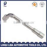 High Quality Double Head Chrome Plated Perforation L Type Torque Socket Wrench for Truck