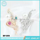 China Supplier New Designs Silver Jewelry Flower Brooch Bouquet