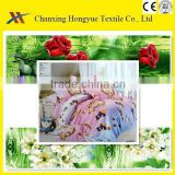 100polyester material fabric disperse printed textiles fabric for home textile/polyester brushed twill fabric