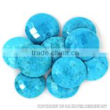 AAA blue turquoise briolette cut gemstone,superior quality silver jewelry gemstone,faceted stones