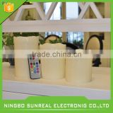 flameless candle in round soy wax maded 50g