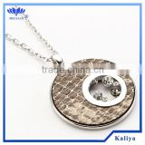 2013 ELEGANT QUANTUM PENDANT, ALLOY CRYSTAL PENDANT,CIRCLE PENDANT LONG CHAIN NECKLACE