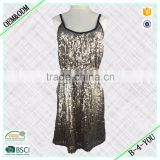 Wholesale Straps Beaded Print Designer Rusched waist sequins Tank One Piece Evening Party Dress