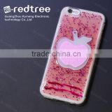 Anti Gravity Bling Epoxy TPU Red For Apple Shape Phone Cover Case for iphone 4/5/6s 7