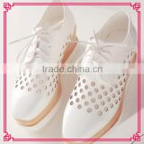 Garden thick sole sandal rubber bottom hollow out lace-up shoes