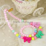 >>best selling bow children's day gift, baby girls jewelry set/