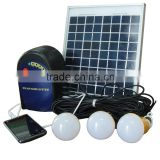 portable 6w led solar home lighting system with mobile charger                                                                         Quality Choice