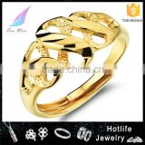 2016 brass fashion 18K gold plated jewellery infinity symbol ring
