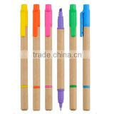 Eco friendly recyled promotional paper combo pen and marker                                                                         Quality Choice