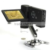Portable 5M 1000x LCD Digital Video Microscope with Photo/Video Measurement and Battery Powered