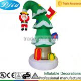 DJ-528 Santa Claus hanging on the Xmas tree inflatable decor outdoor