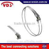 Stainless steel band with pipe metal wire hose clamp