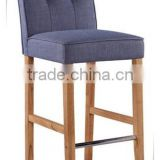 PU solid wood frame bar stool chair with a cross thread & button on the cover -promotion low price hot sale (DO-6226)