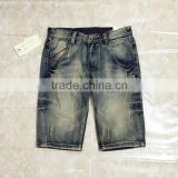 adults age group men design jeans straight skinny ripped scratch vintage denim jeans short pants 1/2 jeans shorts