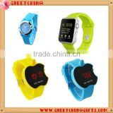 Sports apple shaped silicone wrist watch