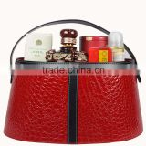 Leather gift basket basket new magazine basket spring festival hand basket hotel food storage basket basket skin