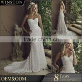 Wholesale new designs wedding dress with long veil