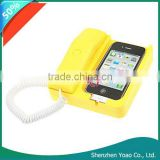 Unique Retro Style Telephone Handset / Dock for iPhone 3G 3GS 4G Yellow