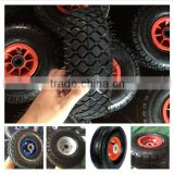 China factory of small rubber pneumatic wheel 3.50-4 for lawm mower