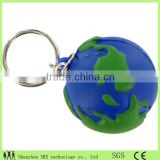 globle earth shape 3d key chains/small globle shape plastic 3d key rings/custom high quality key chain Shenzhen Manufacturer