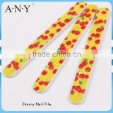 Nail Art Shaping and Polishing Cherry Printing 180 Grit Nail Files OEM Accepted