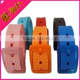 TPE rubber belt candy color ginning Men and women anti-allergy silicone plastic green belts