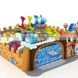 Kaiqi Children PVC Indoor Playground Equipment Castle Theme with balls and climber KQ60271A