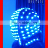 Full color light mode helmet,led safety light up helmet for stage show wireless controlled