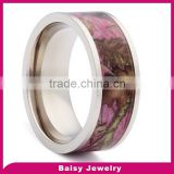 New design latest fashion red tungsten camouflage ring