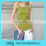 Summer Style Women Tank Tops Cotton Solid Color Slim Fit Casual style top