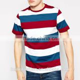 2014 alibaba supplier latest men 100%cotton stripe print custom t- shirt wholesale china                                                                         Quality Choice