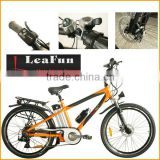 Electric mountain bikes 26inch .36V Power and Lithium Battery.speed brushless hub MID motor