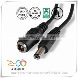small quantity acceptalbe dc power jack 5.5x2.1mm female to male plug cable
