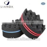 black men hair curl sponge,black color hair twist sponge,hair brush sponges for free samples