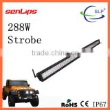 wholesale 288W LED Strobe Light Bar double rows voltage 12/24V led light bar for suv truck offroad tractor