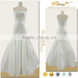 Mesh fabric white elegant side zipper chaozhou cheap wedding gowns