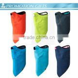 Promotion knitted custom polar fleece neck warmer with embroidery