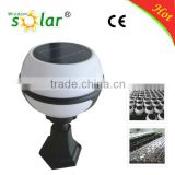Low voltage warm white outdoor garden lamp aluminum solar gate post pillar light